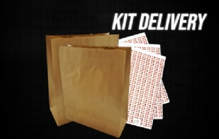 Kit Embalagem Delivery l Saco Kraft Para Delivery + Papel Acoplado DuoFresh