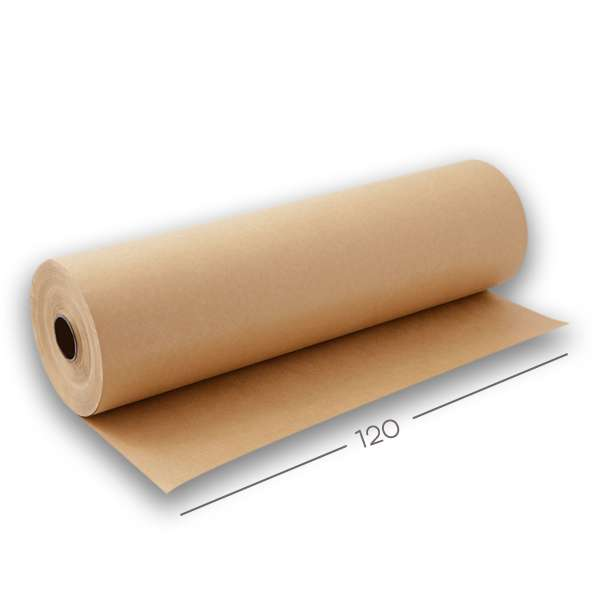 Bobina Papel Semi-Kraft 80g - 120 cm x 300 Mt