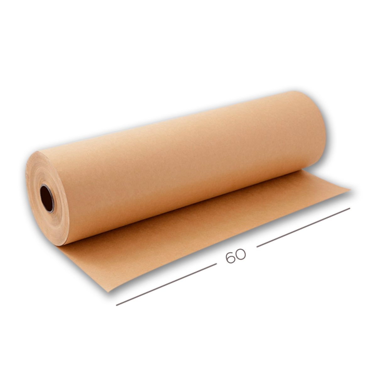 Bobina Papel Semi-Kraft 80g - 60 cm x 150 MT