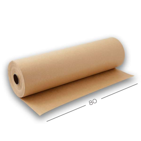 Bobina Papel Semi-Kraft 80g - 80 cm x 150 MT