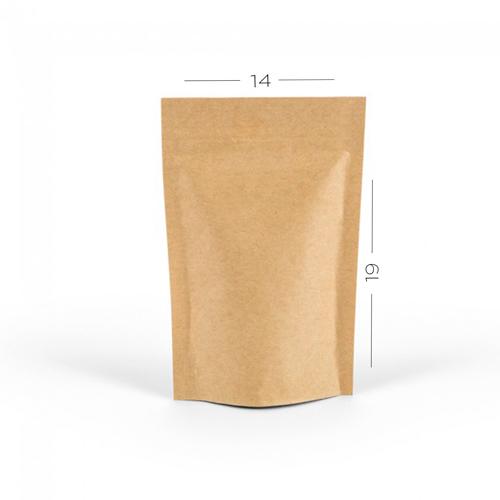 d1e9f5d59 Saco Zip Stand Up Pouch Kraft 14 x 19 cm - Embalagem Fácil
